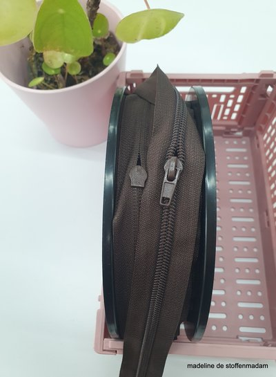 brown endless zipper size 5  with sliders - 1 slider per 50 cm