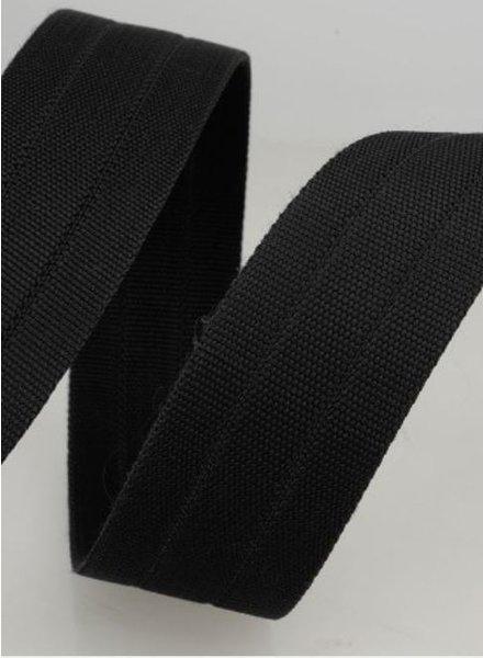 stevige tassenband 30 mm - zwart kleur 014