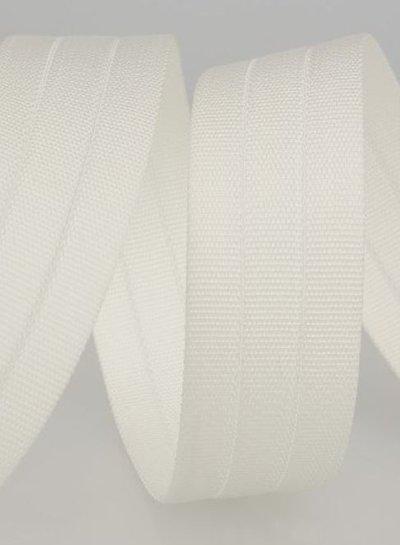 stevige tassenband 30 mm - wit kleur 1