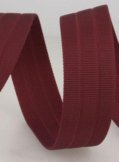 stevige tassenband 30 mm - bordeaux kleur 71