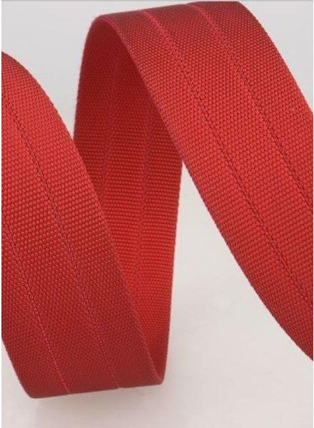 stevige tassenband 30 mm - rood kleur 8