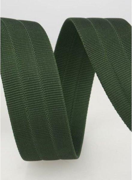 stevige tassenband 30 mm - groen kleur 67