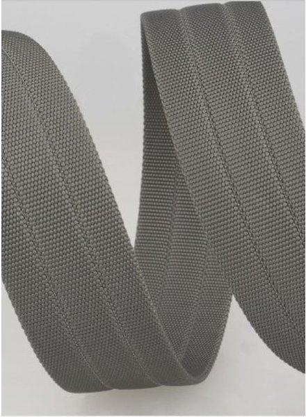 stevige tassenband 30 mm - grijs kleur 27