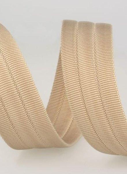 stevige tassenband 30 mm - zand kleur 40