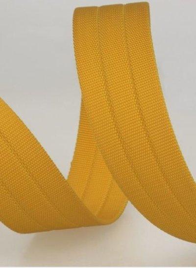 stevige tassenband 30 mm - geel kleur 42