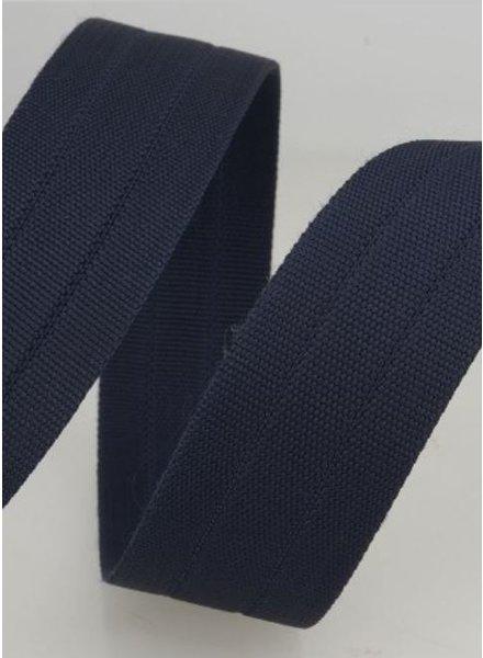 stevige tassenband 30 mm - marineblauw kleur 27
