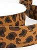 leopard rust elastic waistband 40 mm