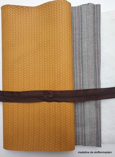 Geo Bag big - braided leather