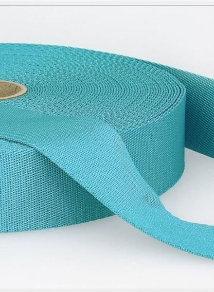 turquoise - soft webbing strap 35mm