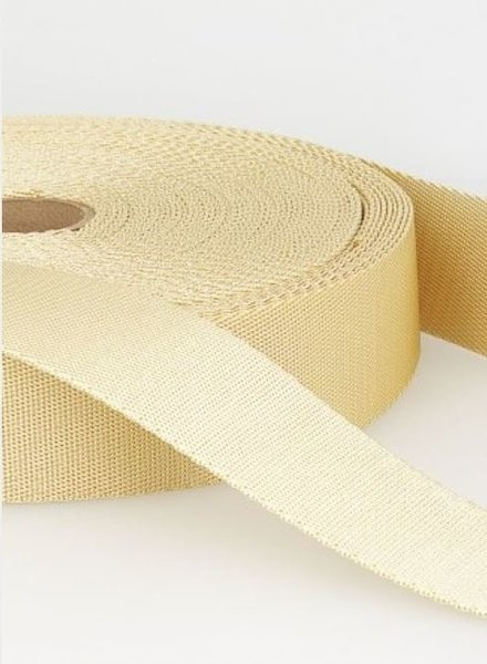 cream - soft webbing strap 35mm