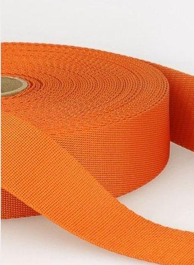 oranje - zachte tassenband 35mm