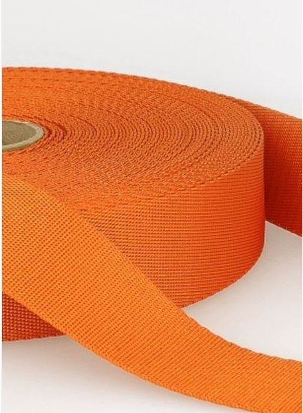 orange - soft webbing strap 35mm