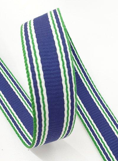 blue striped bag strap - 30 mm