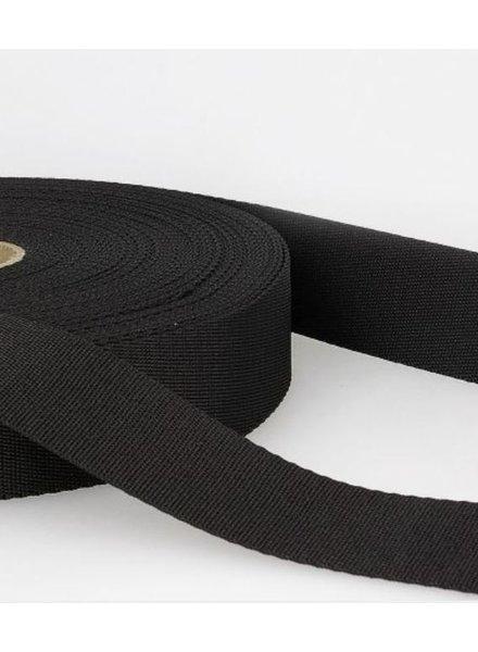 zwart - zachte tassenband 35mm