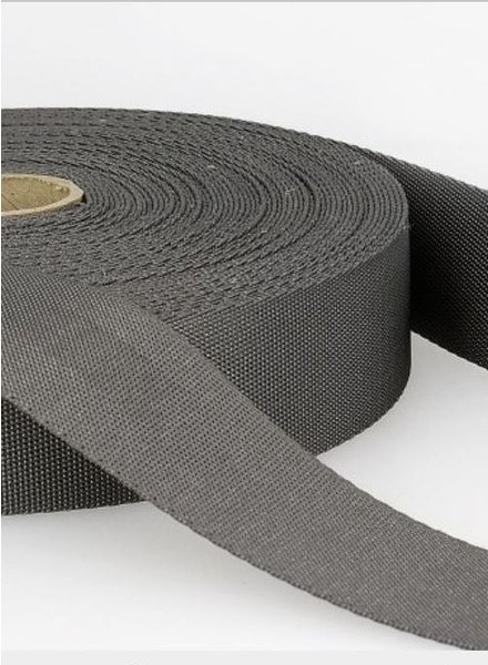 grey - soft webbing strap 35mm