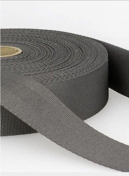 grijs - zachte tassenband 35mm