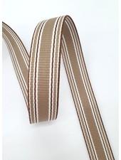 roest gestreepte tassenband 30 mm