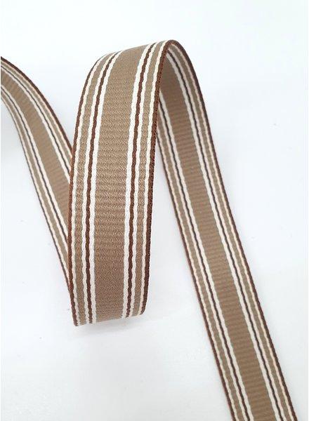 koffie met roest streep tassenband  - 30 mm