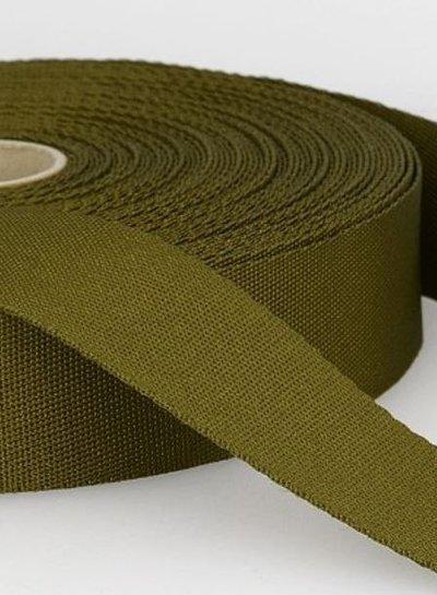 khaki - zachte tassenband 35mm