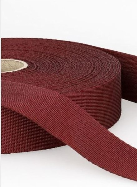 burgundy - soft webbing strap 35mm