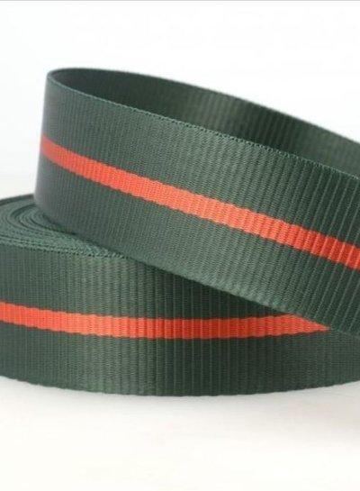 two tone green - tassenband 35 mm