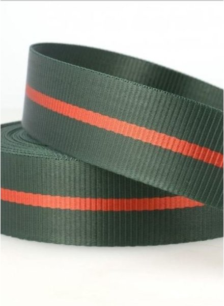two tone green - webbing strap 35 mm
