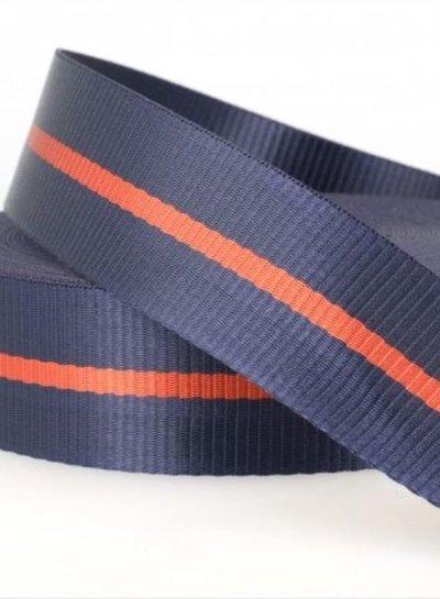 two tone navyblue - tassenband 35 mm
