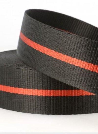 two tone black - tassenband 35 mm