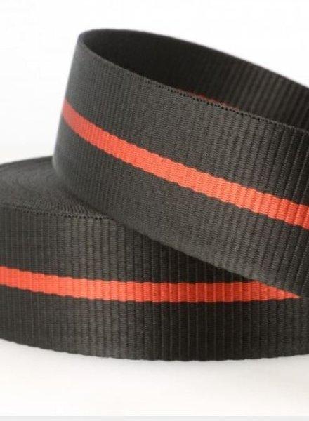 two tone black - webbing strap 35 mm