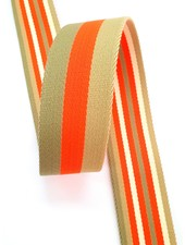 fluo orange striped 40 mm  - double sided bag strap