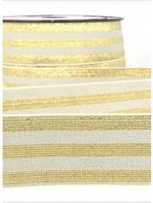 grijs goud gestreept - deluxe - taille elastiek 40 mm