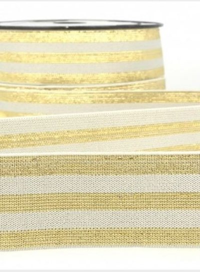 grey with gold striped - deluxe - elastic 40 mm