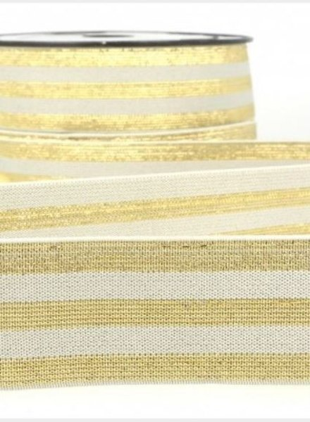 M grey with gold striped - deluxe - elastic 40 mm