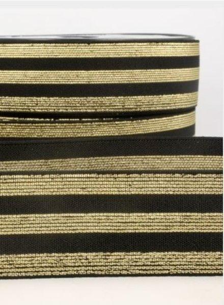 zwart goud gestreept - deluxe - taille elastiek 40 mm