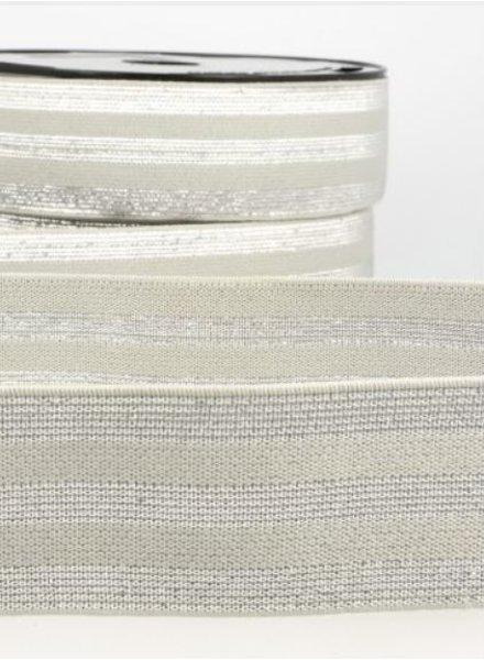 grijs zilver gestreept - deluxe - taille elastiek 40 mm