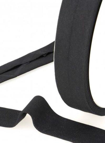 organic cotton biais black binding 20 mm col. 24