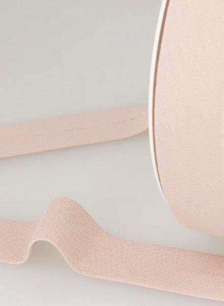 organic cotton biais pale pink binding 20 mm col. 74