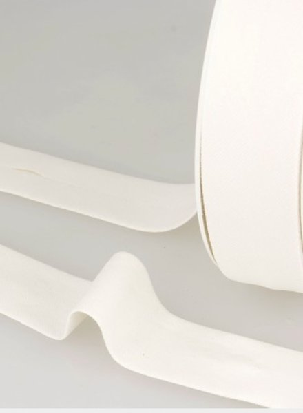 biokatoen biais off white 20mm kleur 51