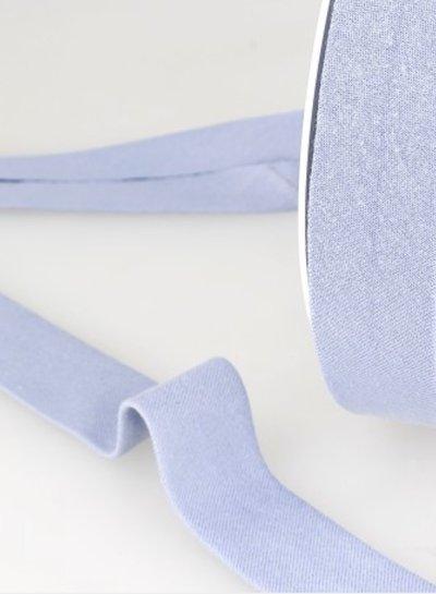 biokatoen biais pastelblauw 20mm kleur 3