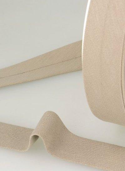 biokatoen biais beige 20mm kleur 40
