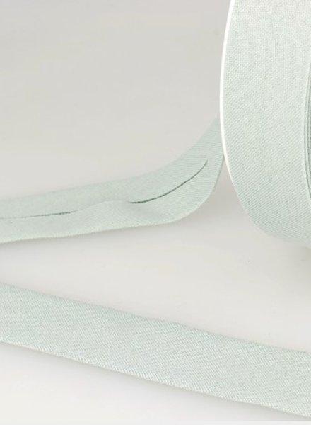biokatoen biais pastelgroen 20mm kleur 10