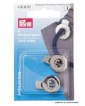 2 cord locks - nickel