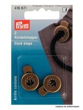 2 cord locks - brons