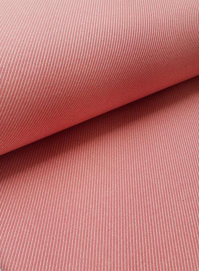 roze diagonaal - superzachte sterke deco katoen