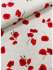 poppy - linen look canvas