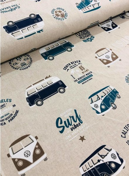 VW surfing holidays - linnen look canvas