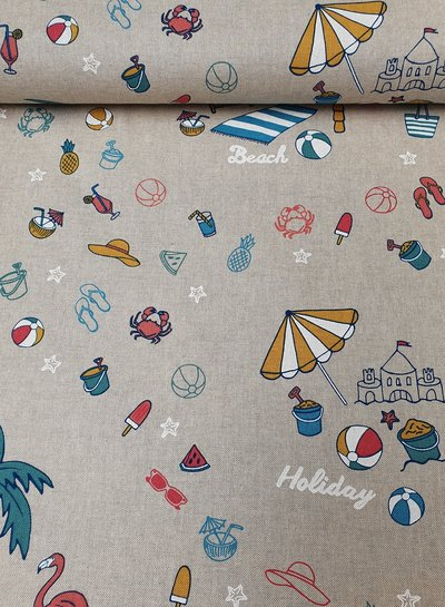 summer holiday - linen look canvas