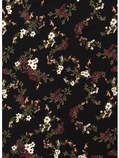 black flowers - viscose