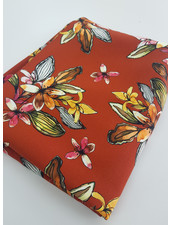 rusty digi flowers - viscose twill