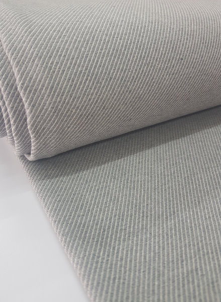 grey diagonals - very soft and strong canvas cotton